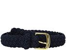 LAUREN Ralph Lauren 1 1/4 Woven Elastic Stretch Belt with Roller Engraved Buckle