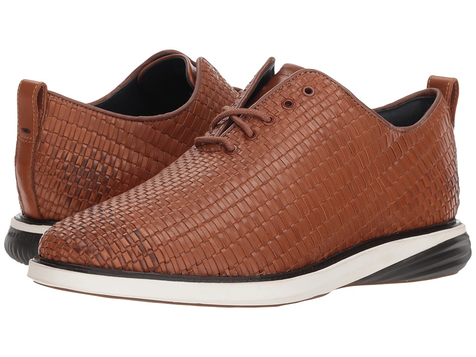 Cole Haan Grand Evolution Woven Oxford (British Tan Woven Leather/Ivory/Dark Roast) Men
