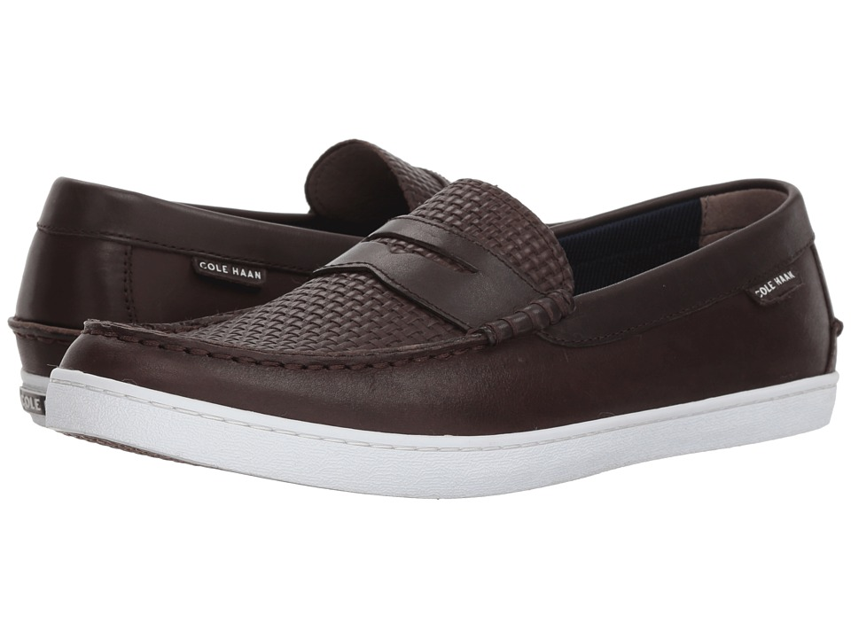 Cole Haan - Pinch Weekender (Java/After Dark Woven Emboss) Mens Slip on  Shoes