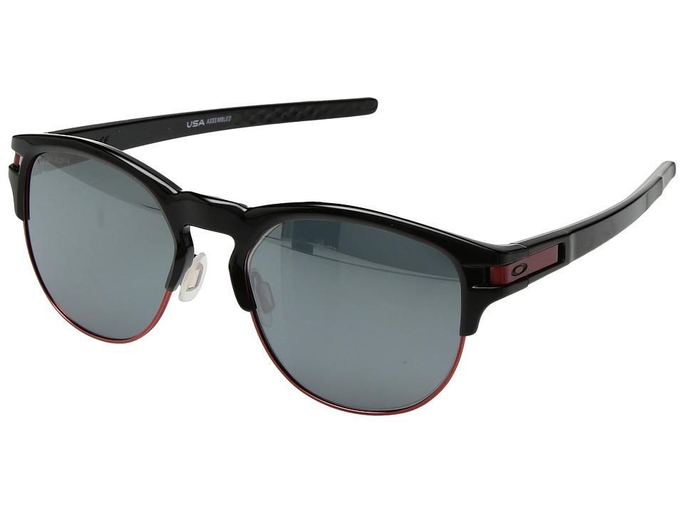 Oakley - Latch Key L (55) (Polished Black w/ Prizm Black) Athletic Performance Sport Sunglasses