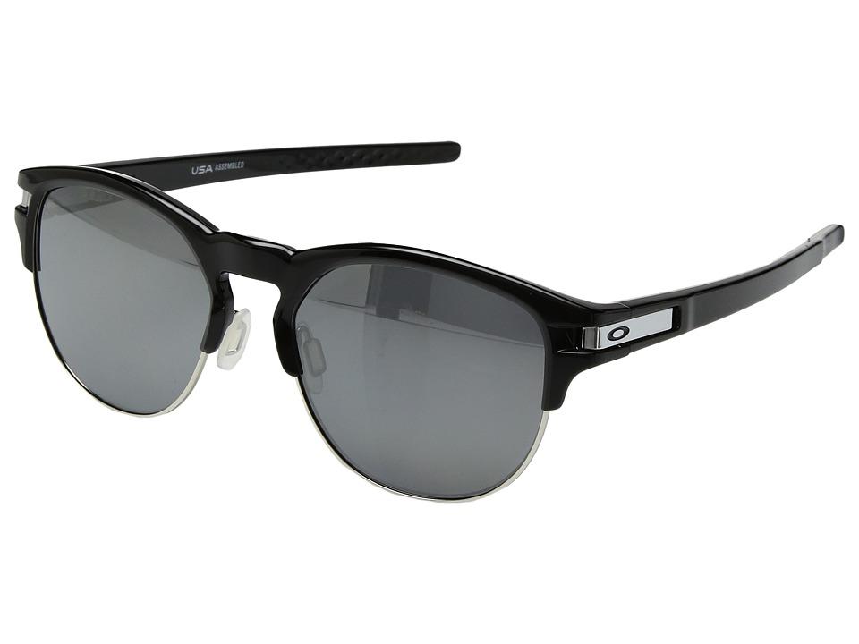 Oakley Latch Key L (55) (Polished Black w/ Black Iridium Polar) Athletic Performance Sport Sunglasses