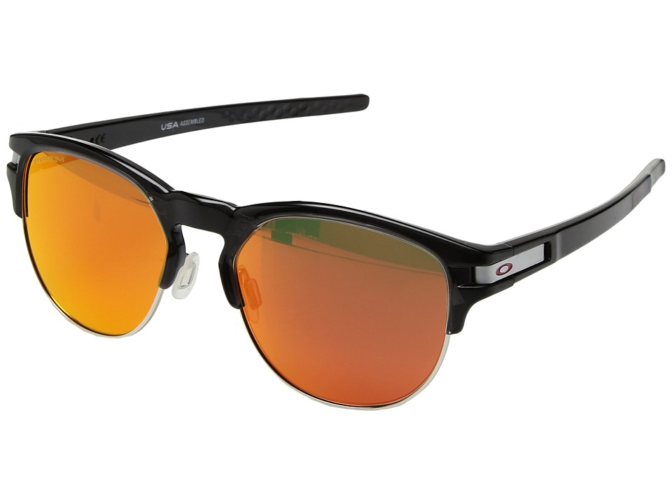 Oakley Latch Key L (55) (Polished Black Ink w/ Prizm Ruby) Athletic Performance Sport Sunglasses