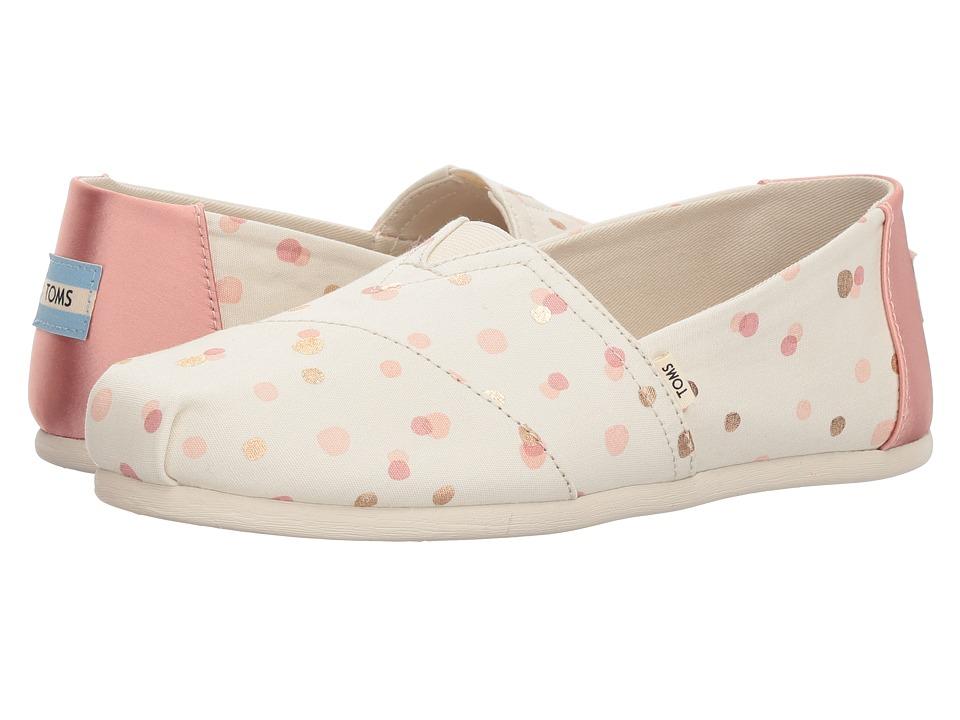 TOMS Alpargata (Pale Blush Metallic Party Dots) Women's Shoes