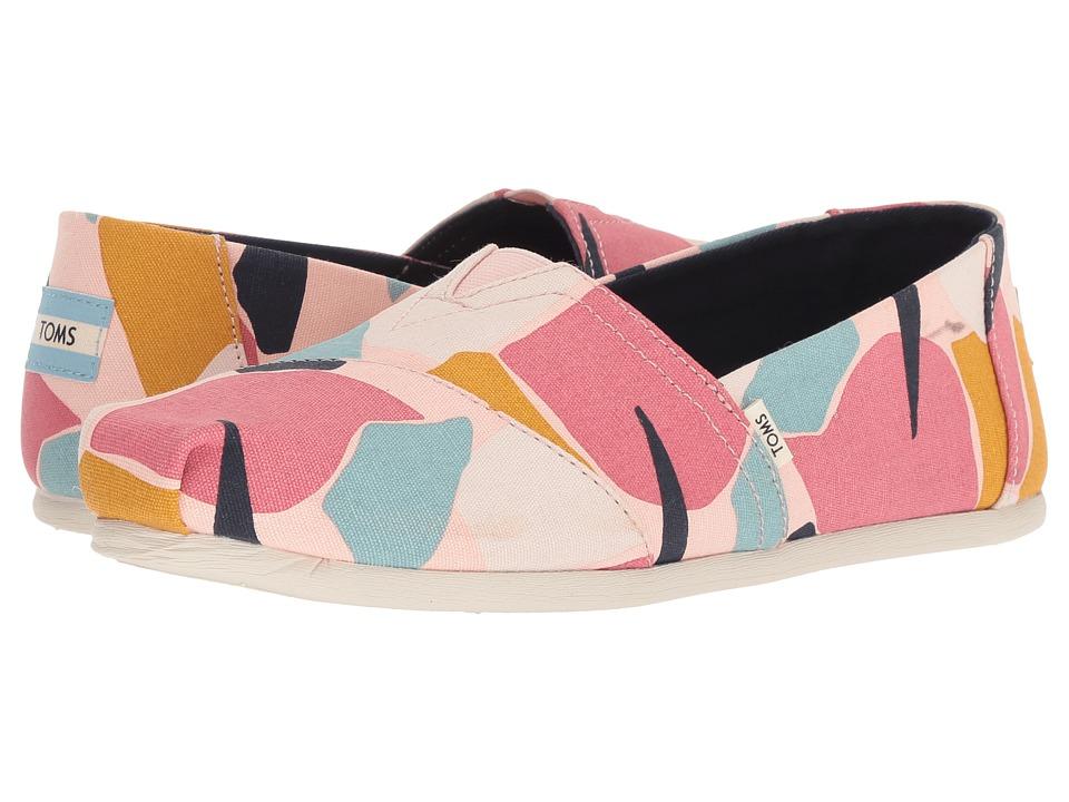 TOMS Alpargata (Rose Glow Print Canvas) Women's Shoes