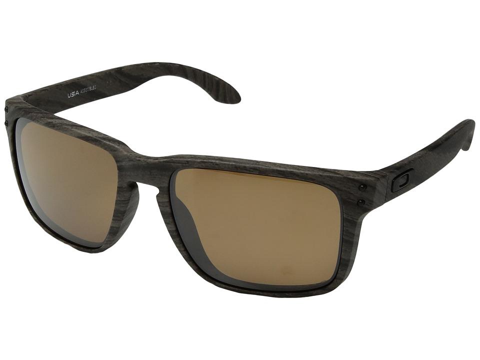 Oakley Holbrook XL (Woodgrain w/ Prizm Tungsten Polarized) Athletic Performance Sport Sunglasses