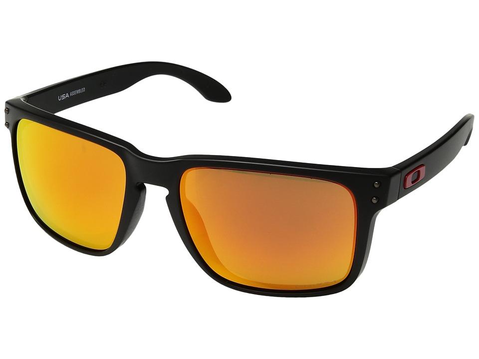 Oakley Holbrook XL (Matte Black w/ Prizm Ruby) Athletic Performance Sport Sunglasses