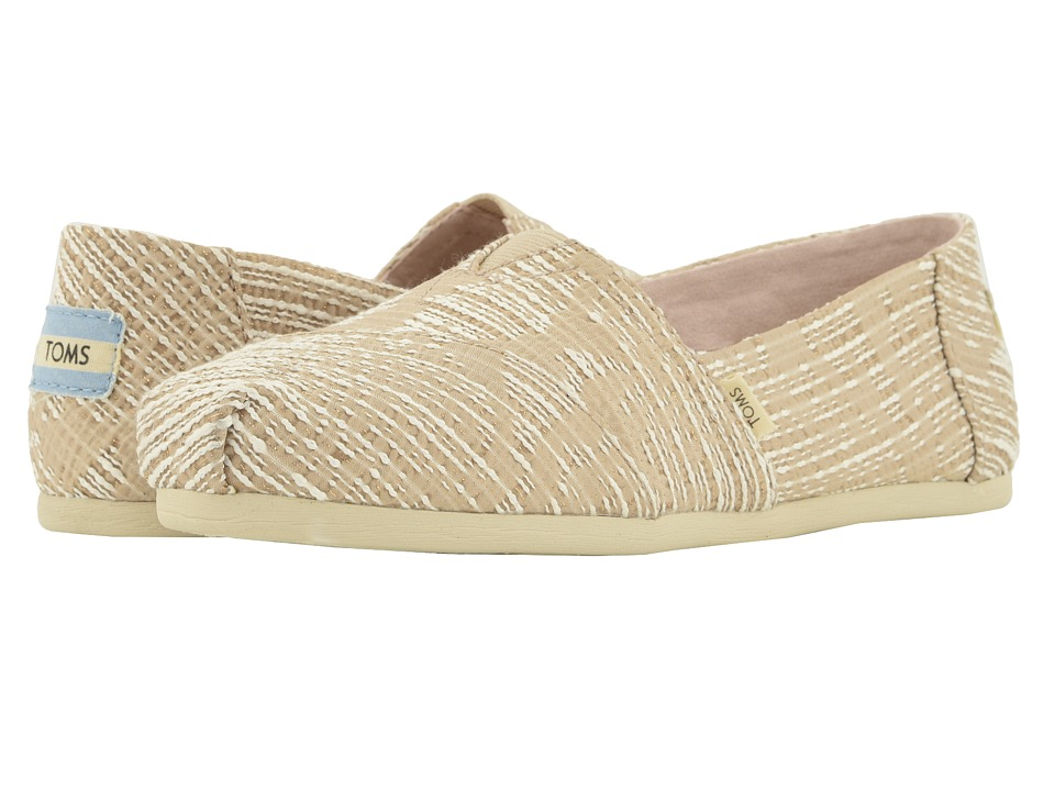 TOMS Alpargata (Oxford Tan Abstract Jaquard) Women's Shoes