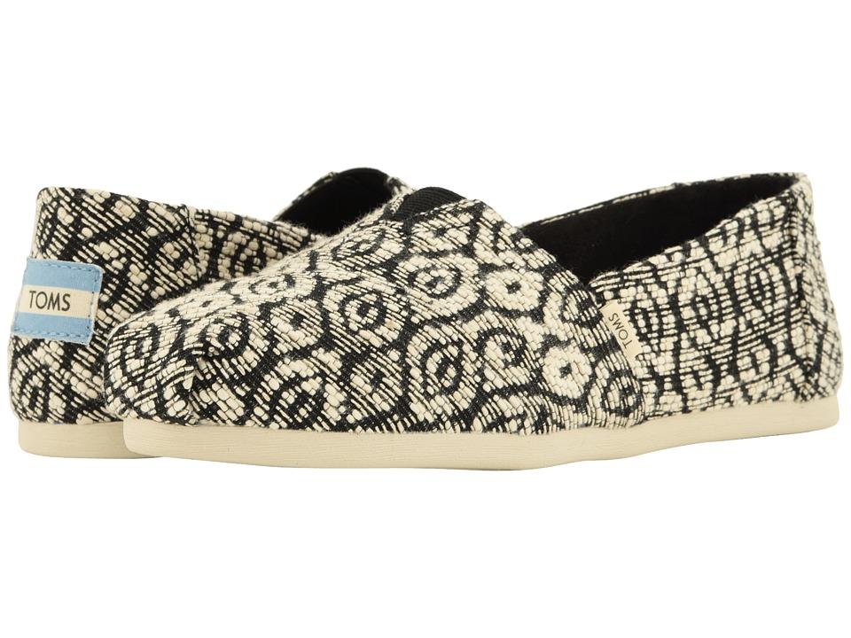 TOMS Alpargata (Black Diamond Woven Rope) Women's Shoes