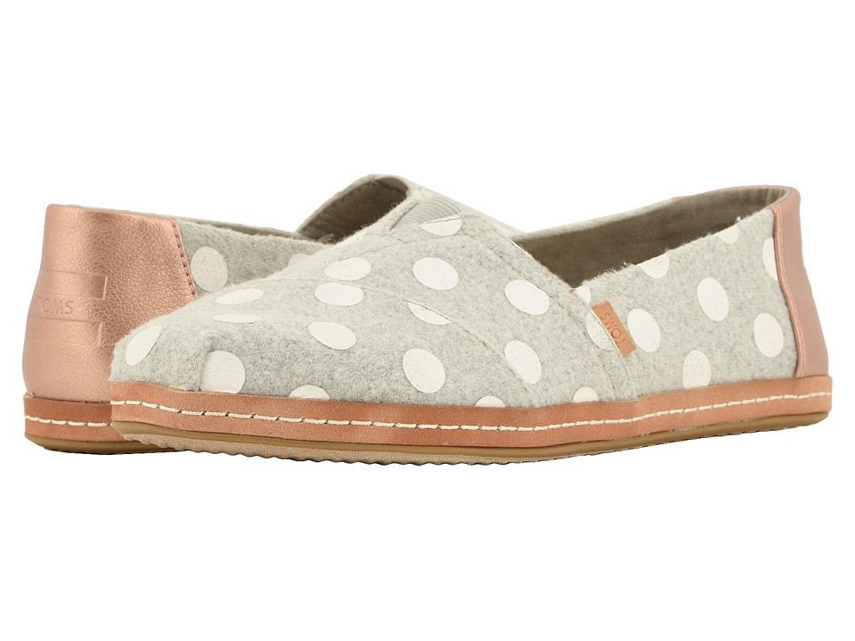 TOMS Alpargata (Dizzie Dots Felt) Women's Shoes