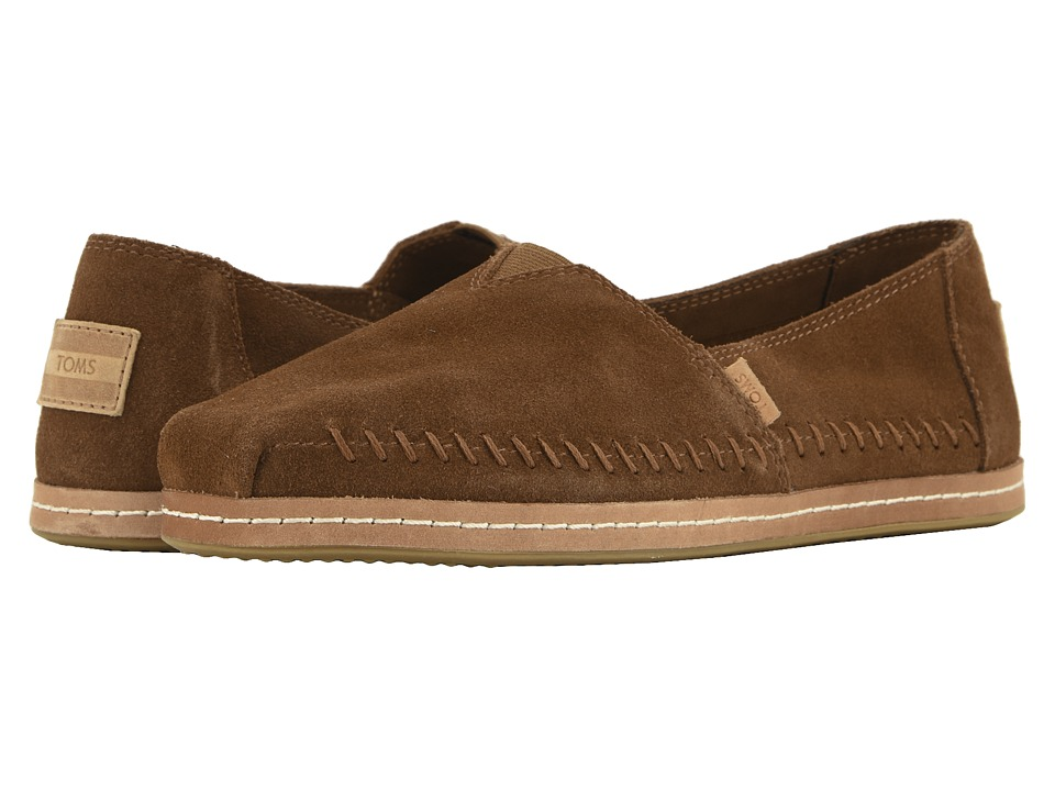 TOMS Alpargata (Dark Amber Suede) Women's Shoes