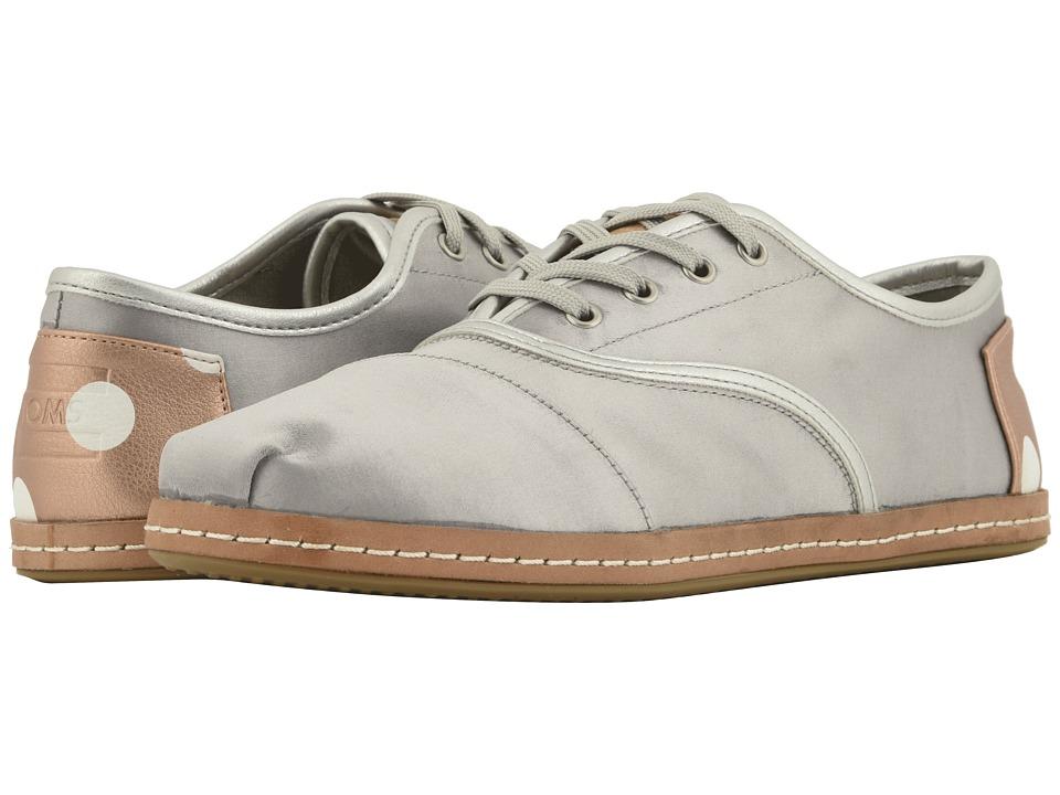 TOMS Cordones (Silver Satin)