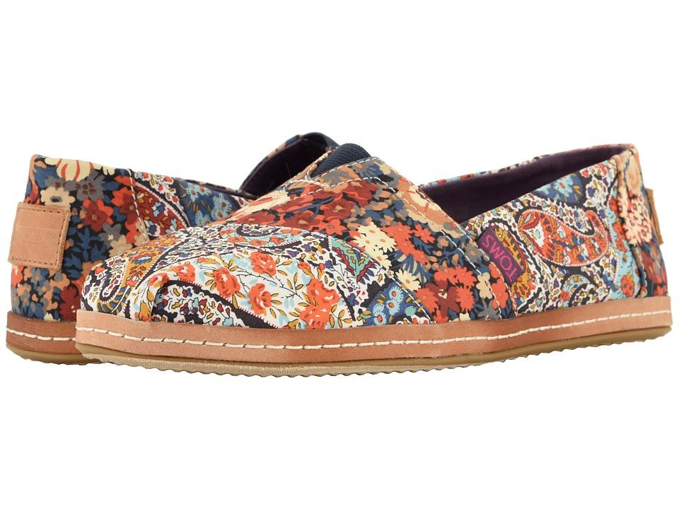 TOMS Alpargata (Navy Paisley/Floral Linen) Women's Shoes