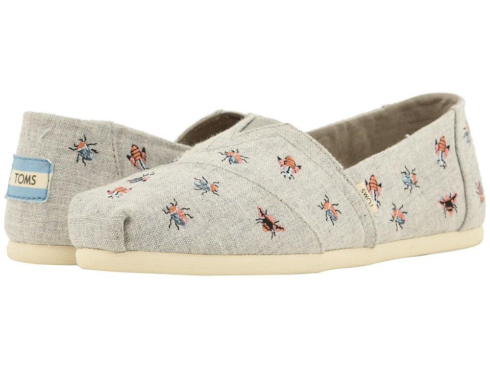 TOMS Alpargata (Drizzle Grey Chambray/Embroidery) Women's Shoes