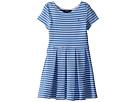 Polo Ralph Lauren Kids Striped Ponte Pleated Dress (Little Kids)