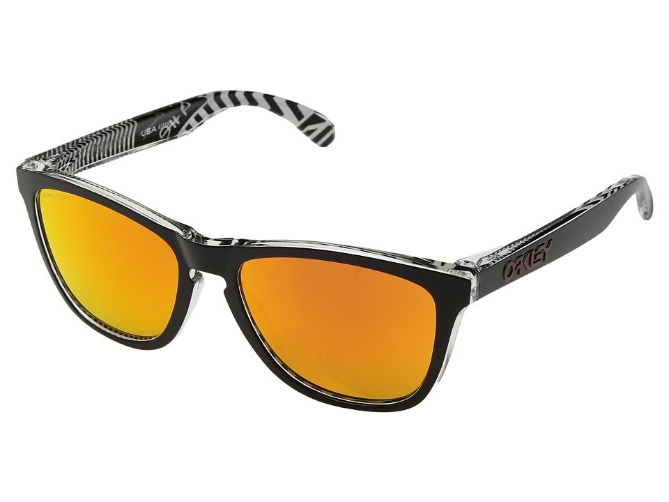 Oakley - Frogskins Urban Commuter (IML) (Tokyo Black w/ Prizm Ruby) Athletic Performance Sport Sunglasses
