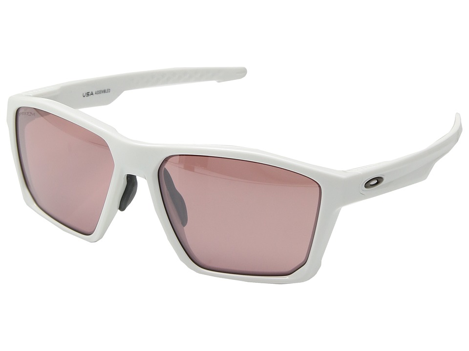 Oakley Targetline (A) (Polished White w/ Prizm Dark Golf) Athletic Performance Sport Sunglasses