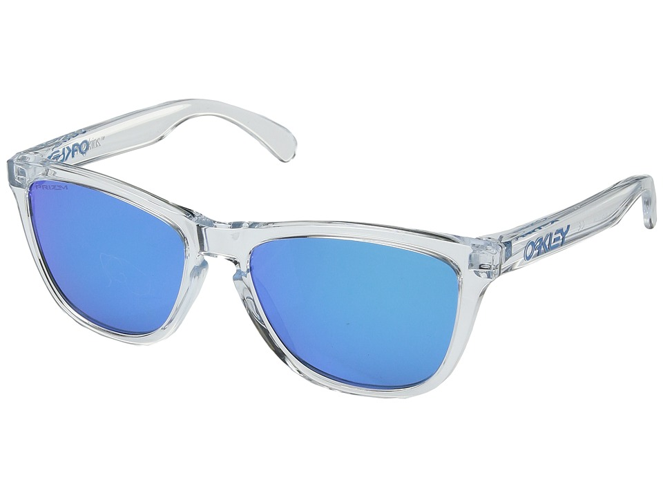 Oakley - Frogskins (Crystal Clear w/ Prizm Sapphire) Sport Sunglasses