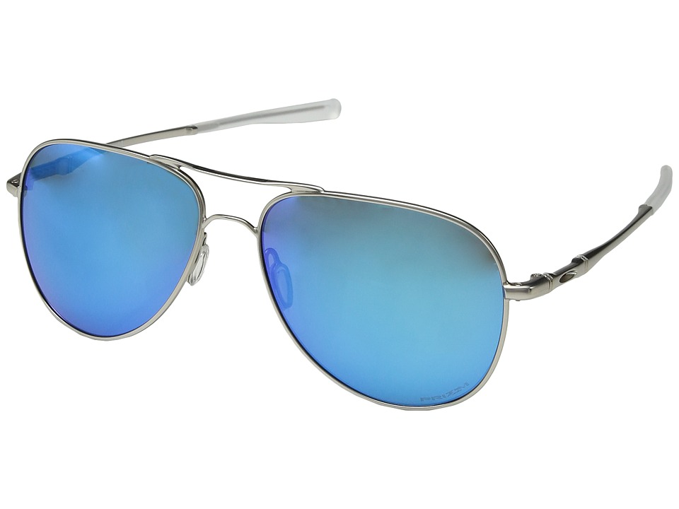 Oakley - Elmont L (Satin Chrome w/ Prizm Sapphire Polar) Fashion Sunglasses