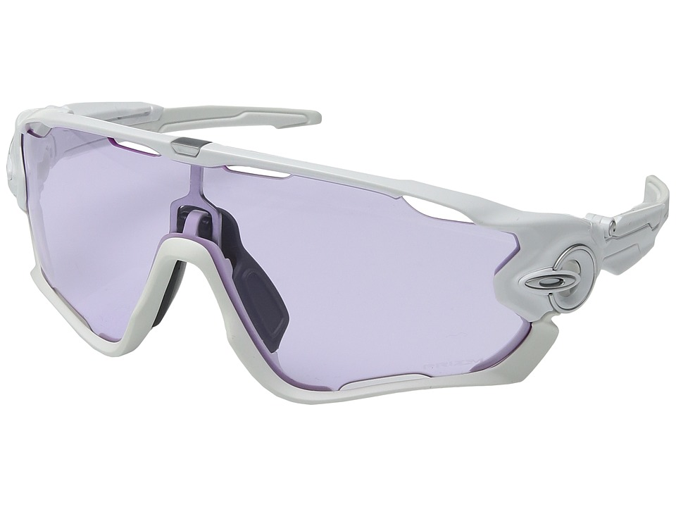 Oakley - Jawbreaker (Polished White w/ Prizm Low Light) Sport Sunglasses