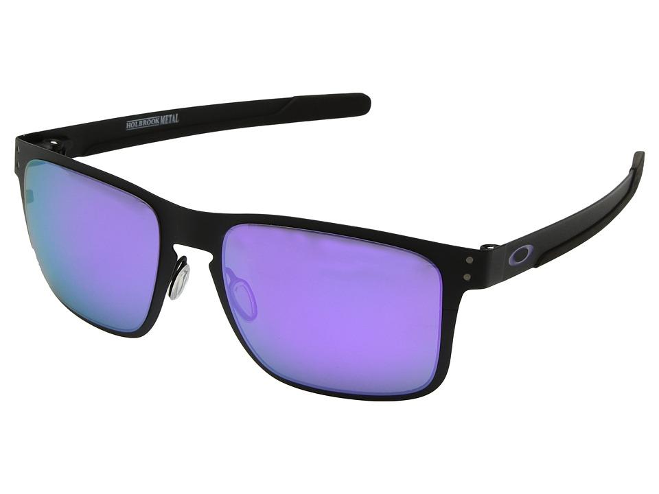 Oakley Holbrook Metal (Matte Black w/ Violet Iridium) Fashion Sunglasses
