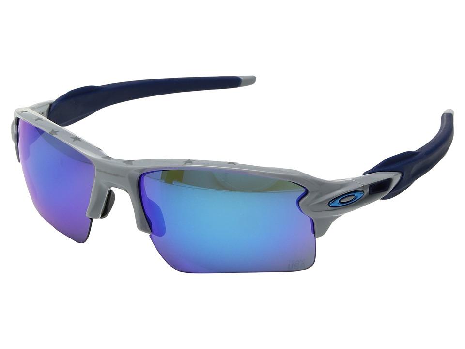 Oakley Flak 2.0 XL (Team USA Grey w/ Prizm Black) Fashion Sunglasses