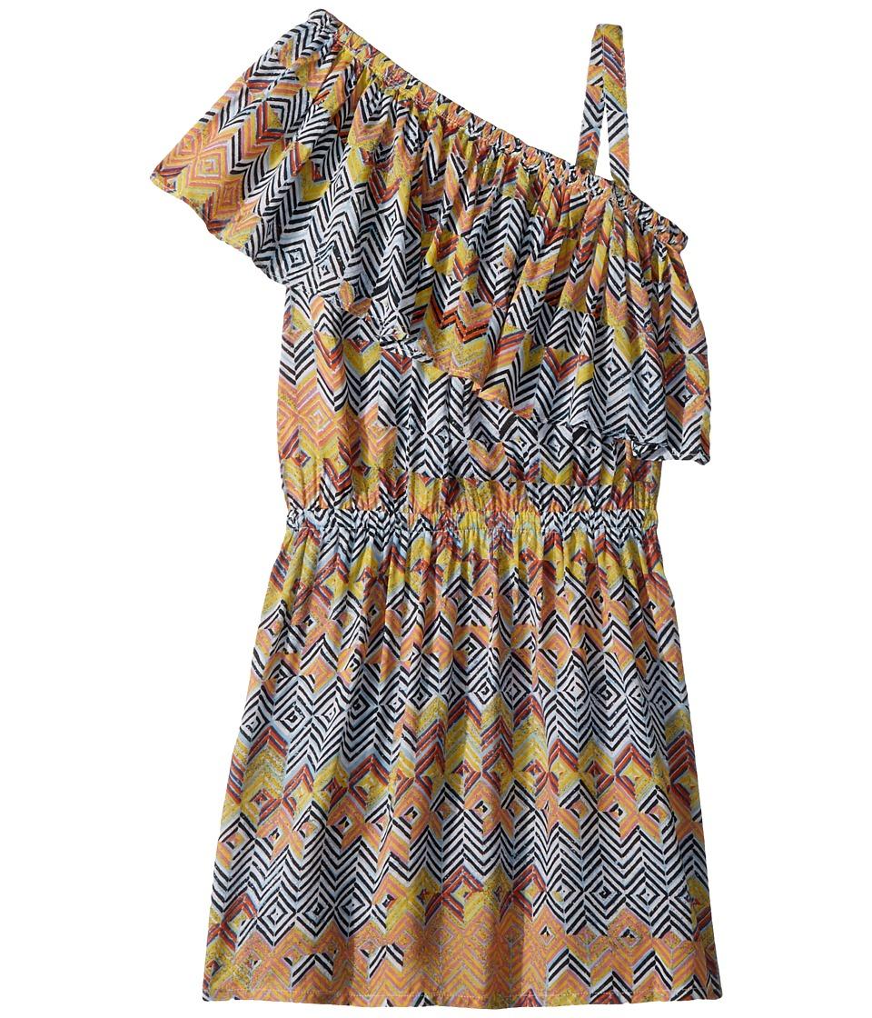 Ella Moss Girl - All Over Print One Shoulder Dress (Black/All Over Print) Girls Dress