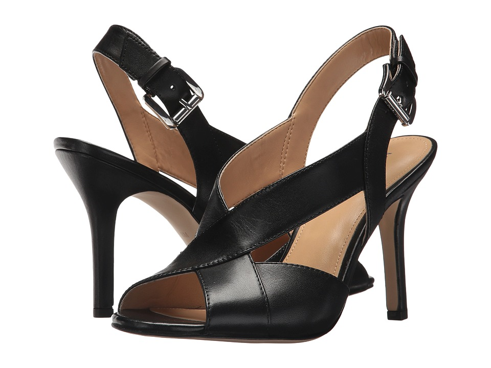MICHAEL Michael Kors Becky Sandal (Black Smooth Calf) Women's Dress Sandals