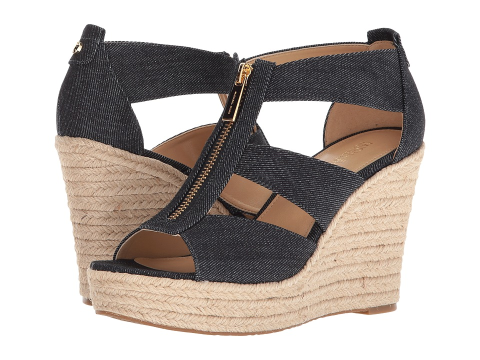 MICHAEL Michael Kors Damita Wedge (Dark Denim Denim/Jute) Wedges