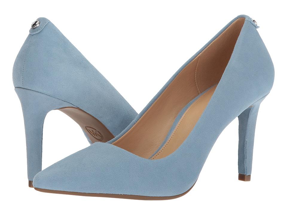 a93cd3a39d8 Michael Kors Dorothy Flex Pump (Pale Blue Kid Suede) Women s Shoes