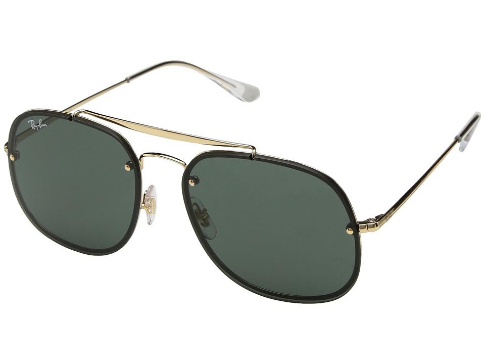 Ray-Ban Blaze General RB3583N 58mm (Gold/Green Classic) Fashion Sunglasses