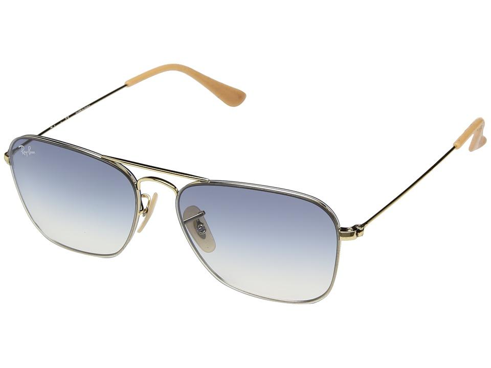 Ray-Ban RB3603 56mm (Gold/Light Blue Gradient) Fashion Sunglasses