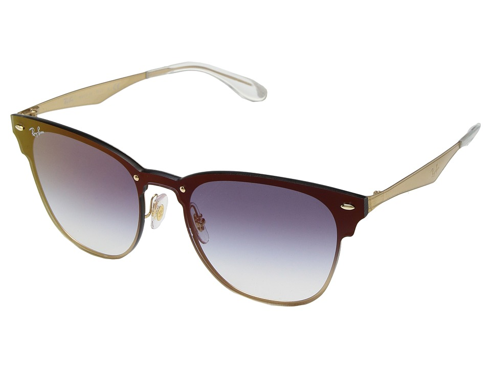 1cd3955401 ... new arrivals ray ban blaze clubmaster rb3576n 47mm brushed gold clear  gradient blue mirror 3df4b 6f338