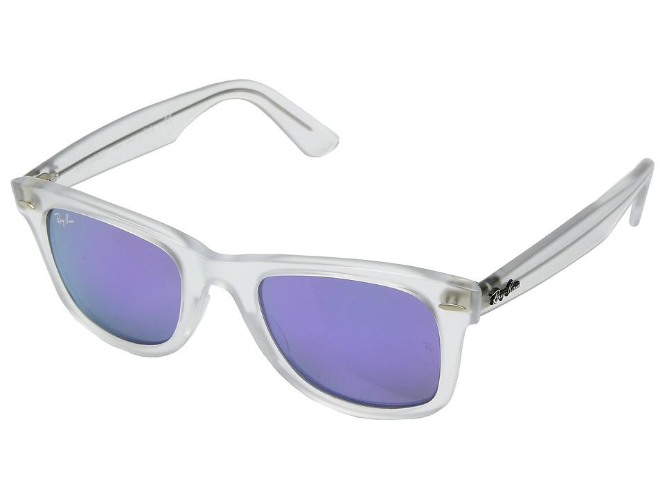 Ray-Ban Wayfarer Ease RB4340 50mm (Matte Transparent/Grey Mirror Purple) Fashion Sunglasses