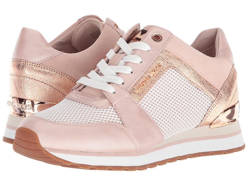 MICHAEL Michael Kors - Billie Trainer (Soft Pink Scuba/Net Mesh/Pearlized Leather) Womens Shoes