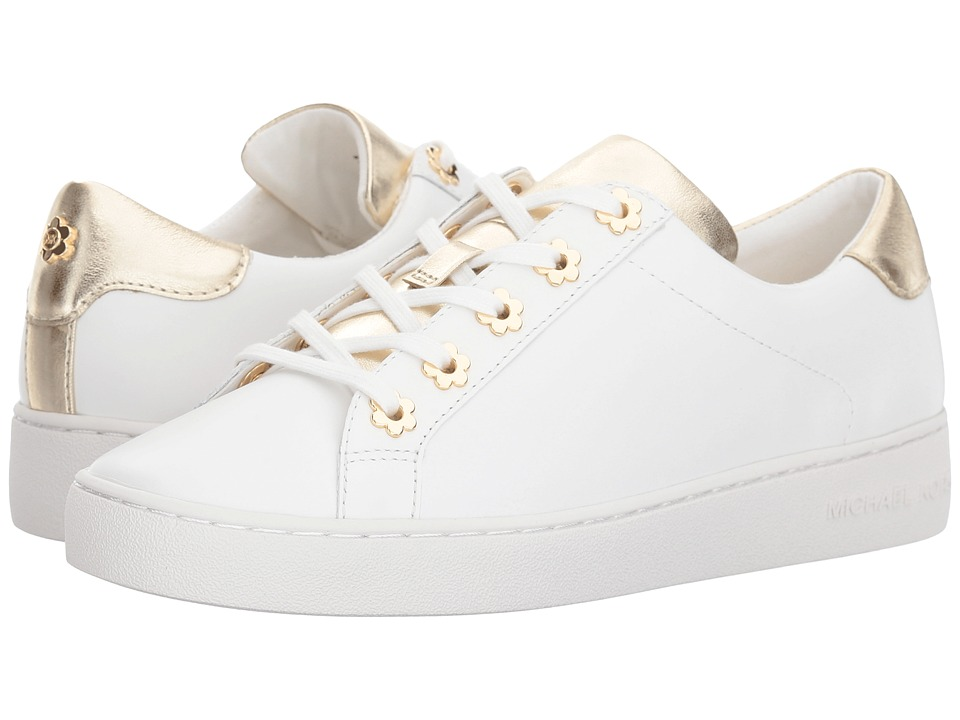 MICHAEL Michael Kors - Irving Lace Up (Optic/Gold Vachetta/Metallic Nappa/Floral Grommets) Womens Lace up casual Shoes