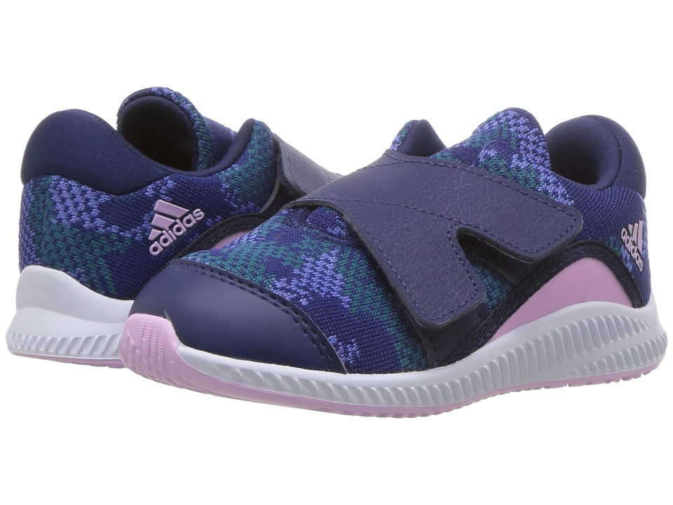 adidas Kids FortaRun X CF (Toddler) (Dark Blue/Clear Lilac/White) Girls Shoes