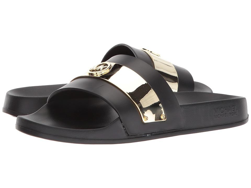 MICHAEL Michael Kors - Jett Slide (Black High Frequency Molded Eva) Womens Shoes