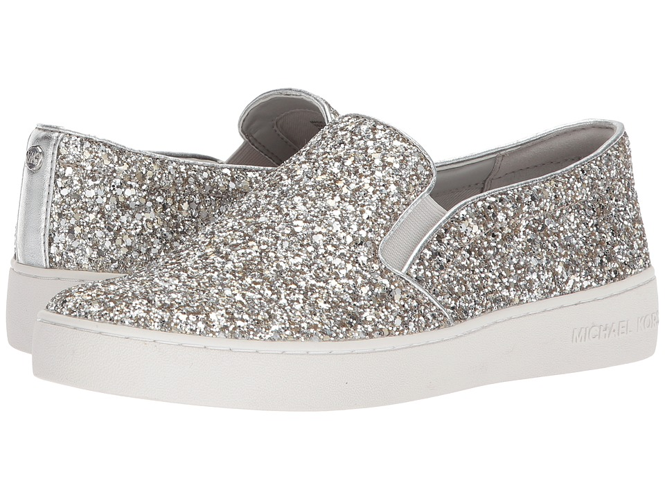 MICHAEL Michael Kors Keaton Slip-On (Champagne Chunky Glitter/Metallic Nappa) Slip-On Shoes