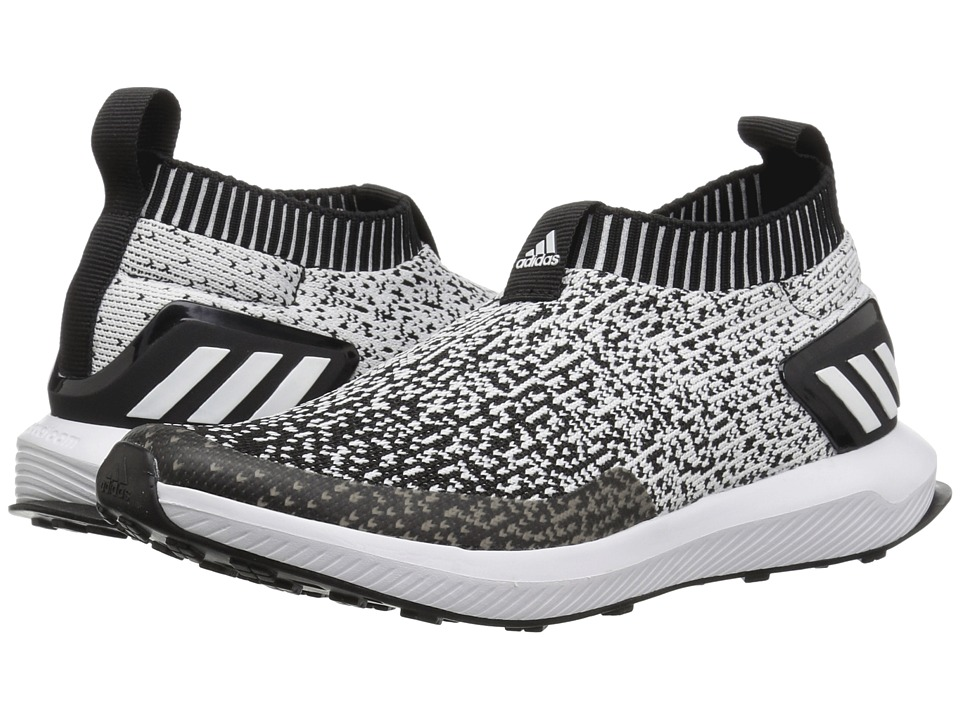 adidas Kids RapidaRun Laceless Knit (Little Kid) (Black/White) Kid