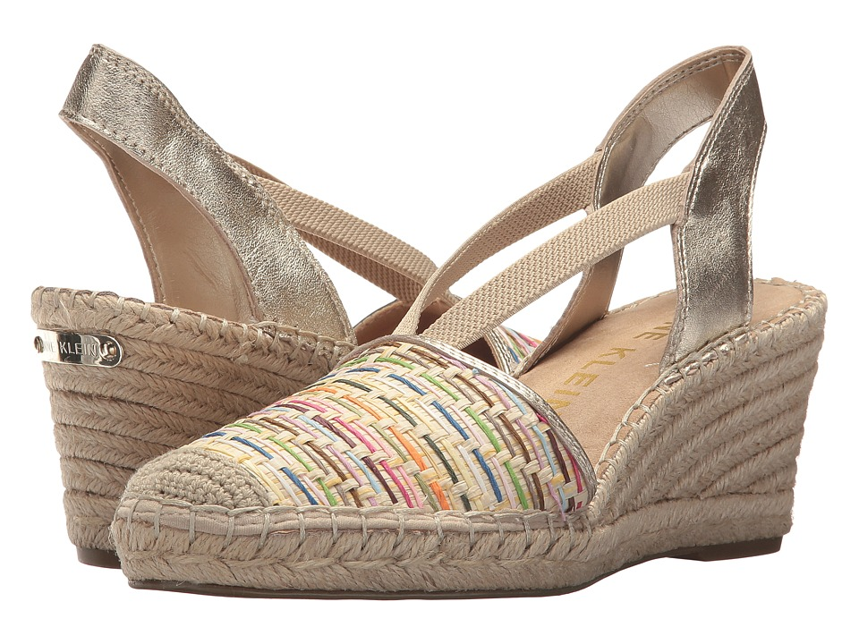 Vintage Sandals | Wedges, Espadrilles – 30s, 40s, 50s, 60s, 70s Anne Klein - Abbey Natural Multi Straw Womens Wedge Shoes $74.95 AT vintagedancer.com