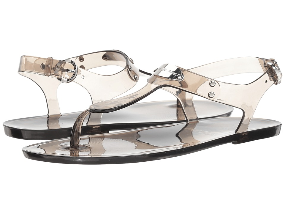 MICHAEL Michael Kors MK Plate Jelly (Smoke Clear PVC) Sandals