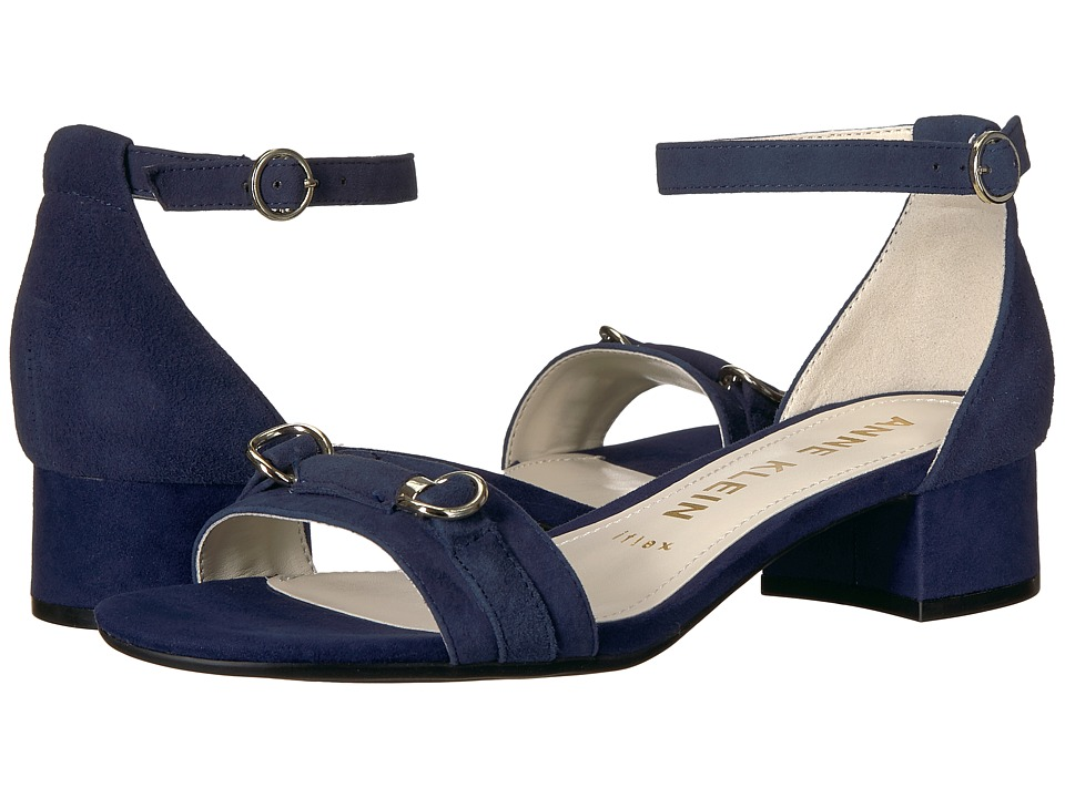 Anne Klein - Esme (Navy Suede) Womens Sandals