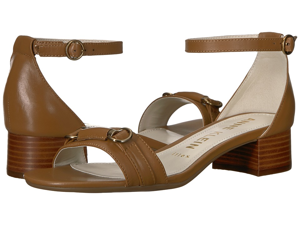 Anne Klein Esme (Medium Brown Leather) Sandals