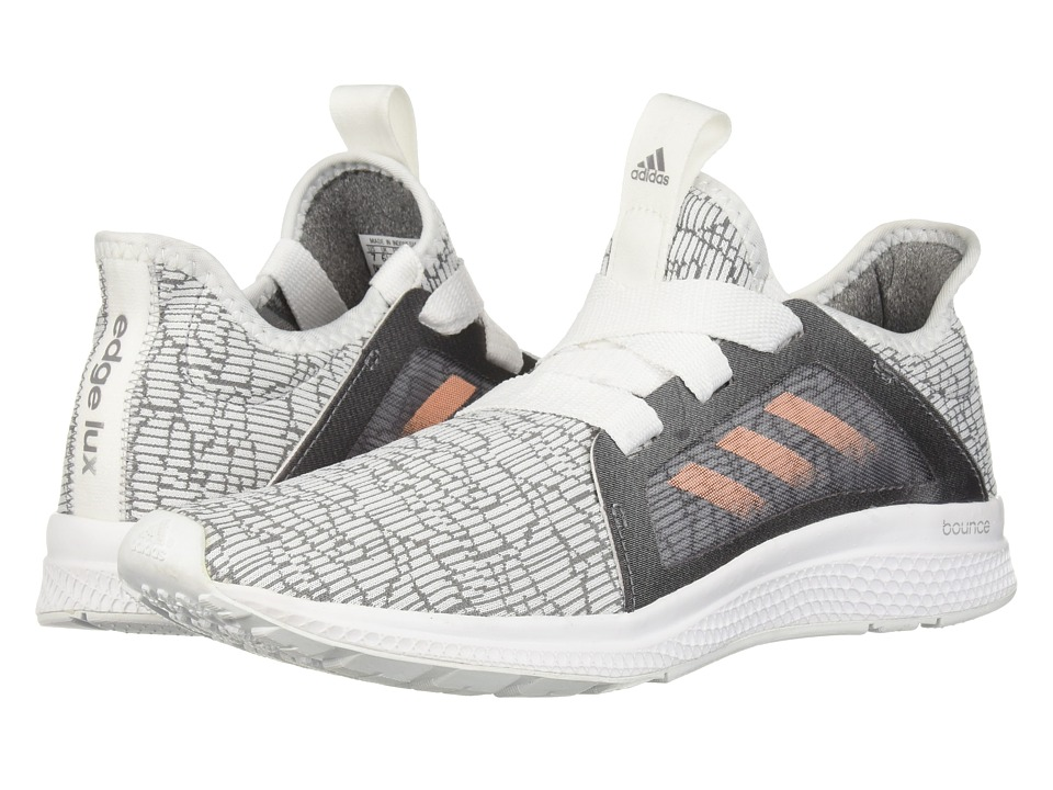 adidas Kids Edge Lux (Big Kid) (Grey/Haze Coral/White) Girl
