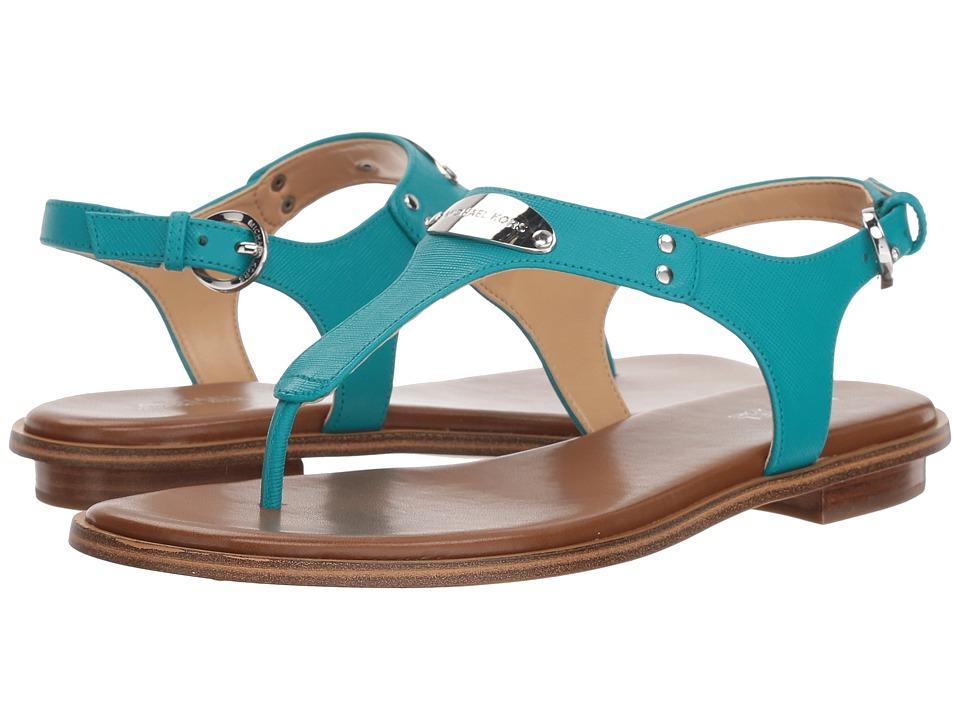 MICHAEL Michael Kors MK Plate Thong (Tile Blue Saffiano) Sandals