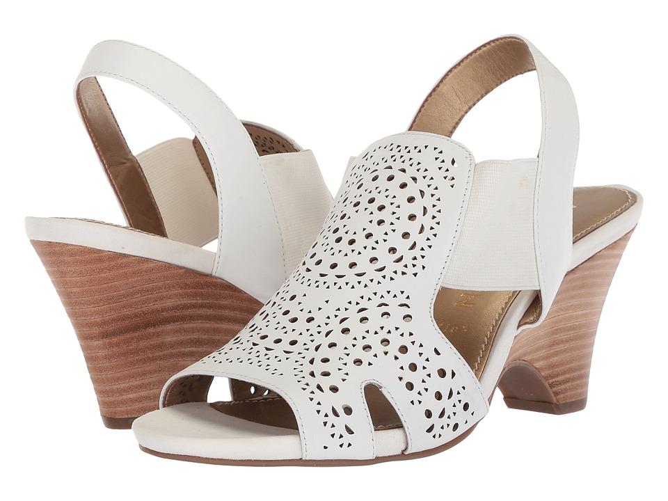 Anne Klein - Grandp (White Multi Leather) Women's Dress Sandals