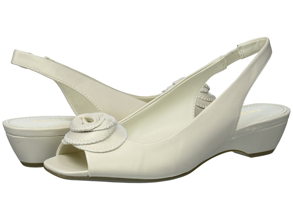 Anne Klein - Harietta (Off-White Synthetic) Womens Sling Back Shoes