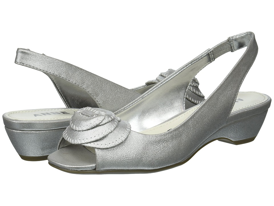 Anne Klein Harietta (Silver Synthetic) Slingbacks