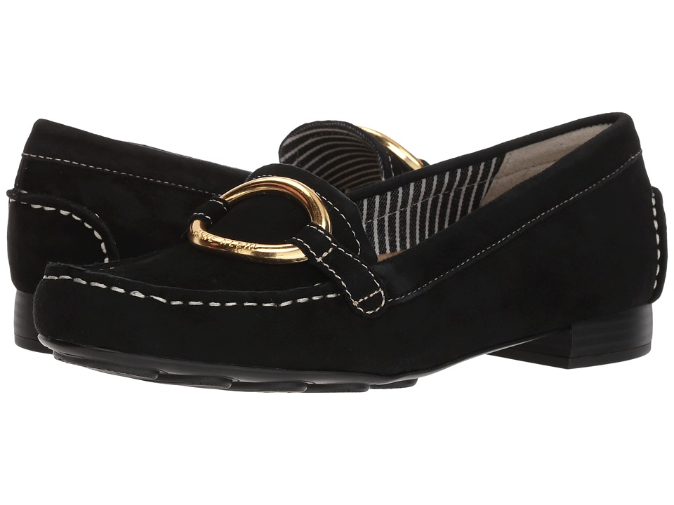 Anne Klein Harmonie (Black Suede) Women's Shoes