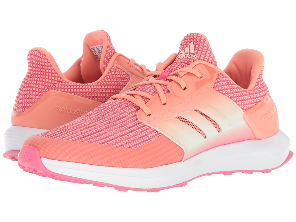adidas Kids RapidaRun (Little Kid/Big Kid) (Real Pink/Chalk Coral/Aero Green) Girls Shoes